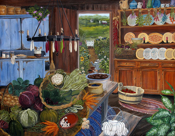 Pictures of summer kitchens please welcome to the for Paintings for kitchen area